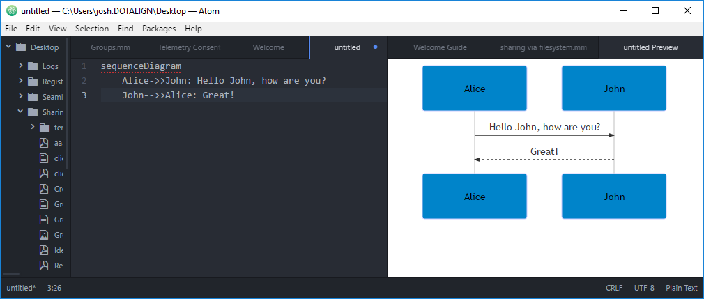 Sample Diagram in Atom